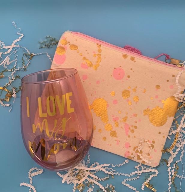 Pink n Gold canvas pouch
